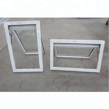 Small Size Frosted Glass Bathroom Pvc Top Hung Awning