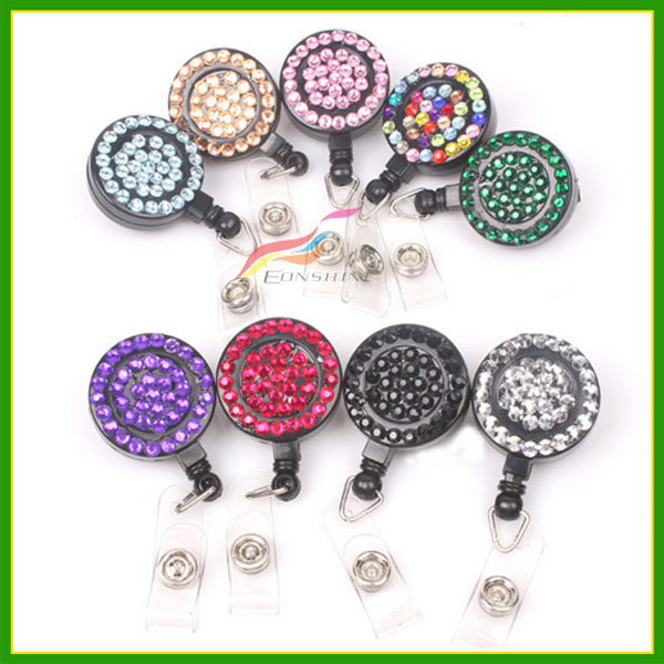 Custom Printed Retractable Badge Reel Plastic Badge Reel For Lanyard Strap