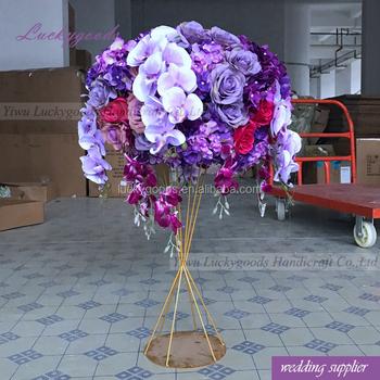 Lfb877 Handmade Silk Floral Centerpiece Artificial Table Flower