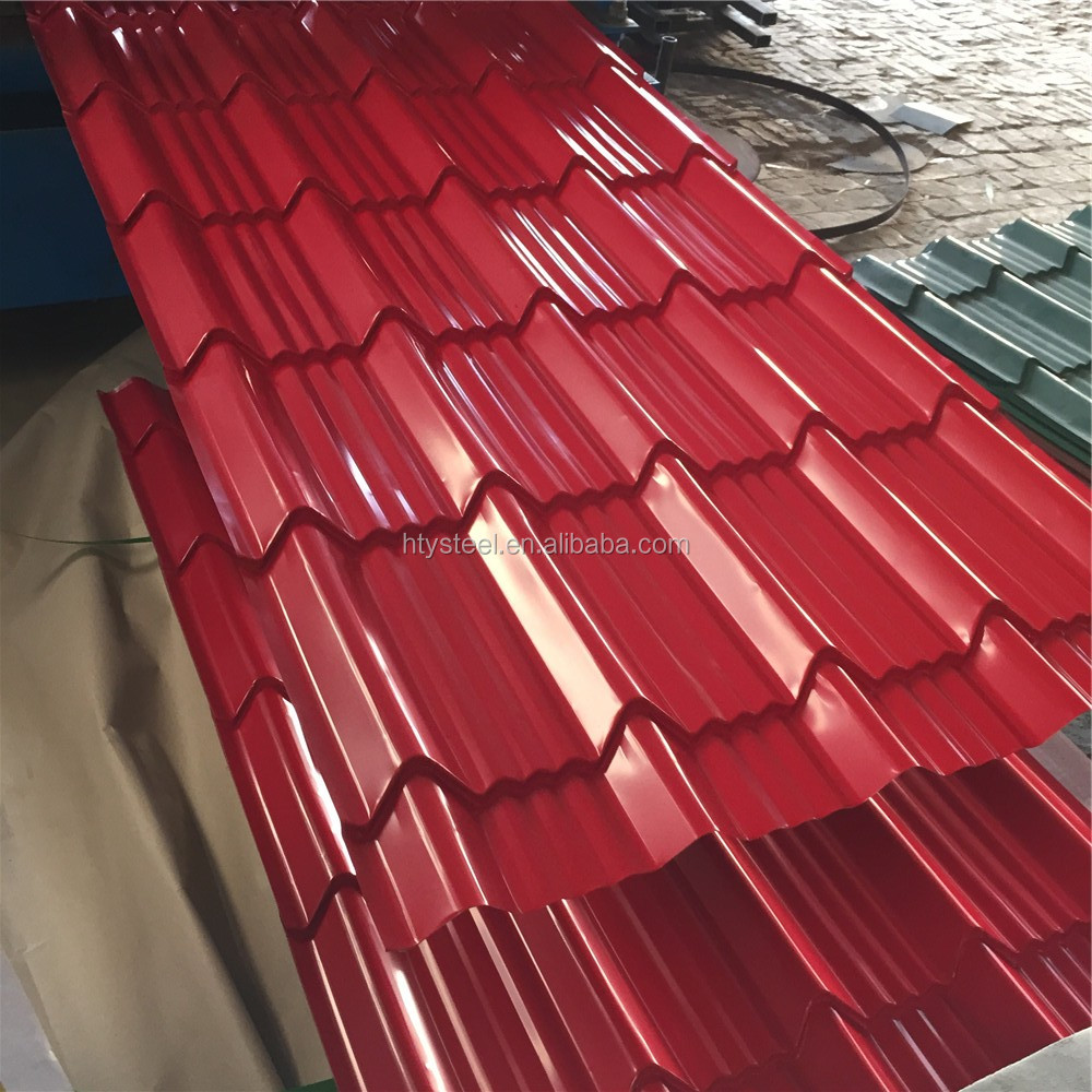 Color Coated Zinc Corrugated Steel Roofing Sheets/Coloued Glaze Galvanized  Corrugated Roofing Sheet To Africa