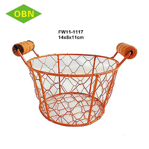 Mini lovely customized cheap chicken wire decorative metal basket