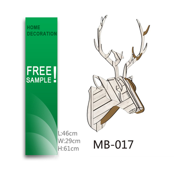 MDF 3D Diy Reindeer Head Template