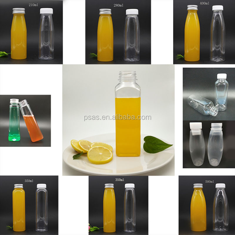 PET juice bottles for drink