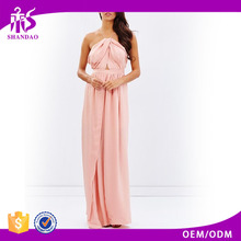 2016 Guangzhou Shandao Apparel Outsourcing Companies Summer Sleeveless Backless Sexy Pink Maxi Dresses