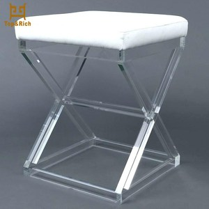 Wholesale Leisure Cheap Acrylic Chair Acrylic Bathroom Vanity Stool