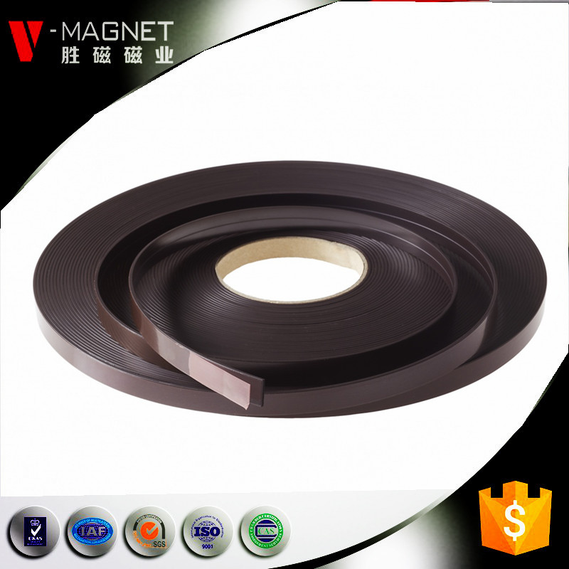 6mm thick orange adhesive backed rubber magnet strip