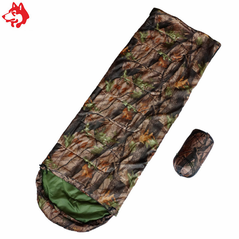 Personalized tree camo color sleeping bag military hiking camping travelling sleeping bag