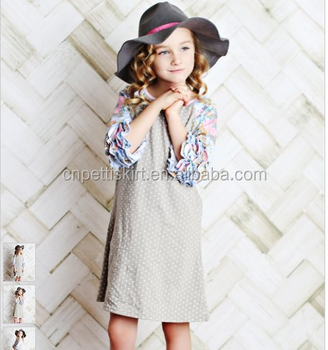 Best selling 2018 spring flower girl dress grey polkadot baby best selling 2018 spring flower girl dress grey polkadot baby clothes wholesale boutique cotton clothes mightylinksfo