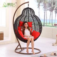 Outdoor Garden Rattan Chair Patio Rattan Hanging Chair /Indoor Rattan Swing Chair
