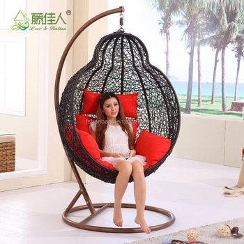 Outdoor Garden Rattan Chair Patio Rattan Hanging Chair /Indoor Rattan Swing  Chair