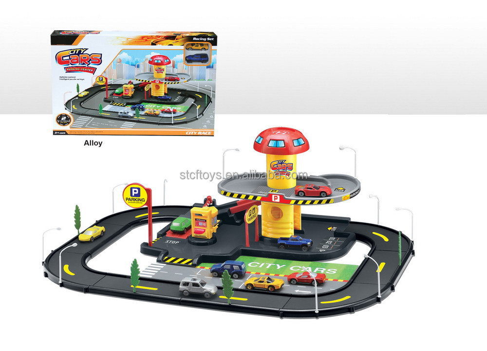 shantou toys new products 2016 railway train blocks slot car racing sets track toys for kids