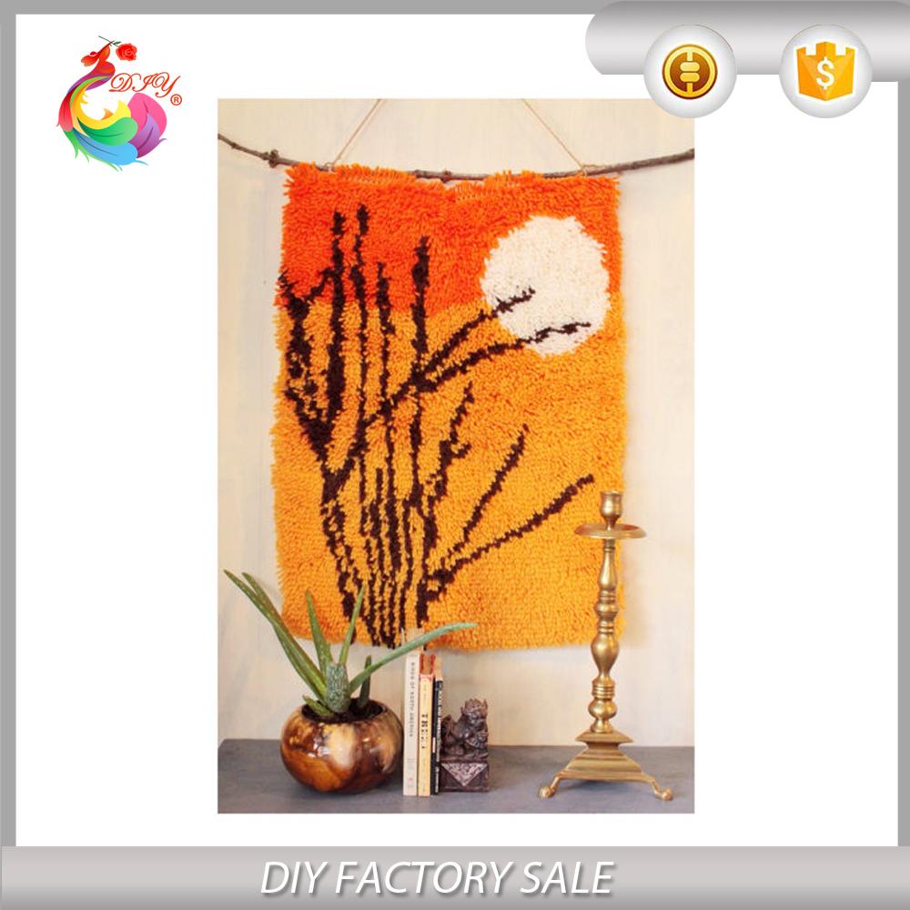 nueva diy alfombra decoracin del hogar diy kits de alfombra esmirna puesta de sol