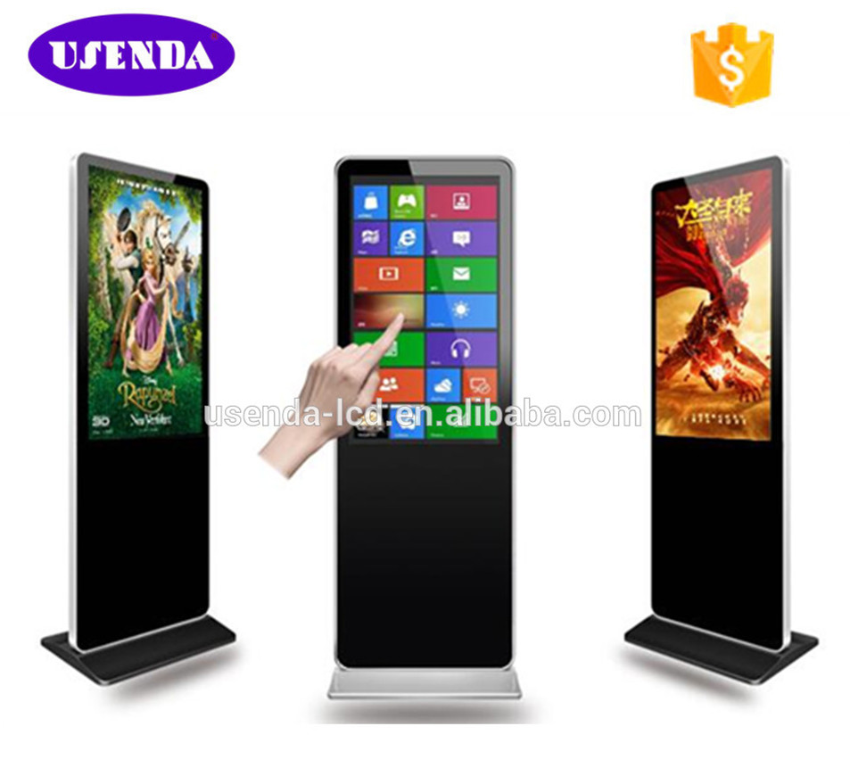 47 inch indoor standalone lcd touch screen wireless digital signage display advertising in digital marketing