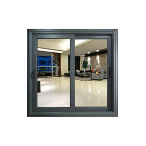 Upgrade 90 series sliding window with waterproof bar design and thermal break aluminum profile