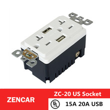 1year warranty 20a TR socket gfci outlets with usb port 125V gfci usb outlet