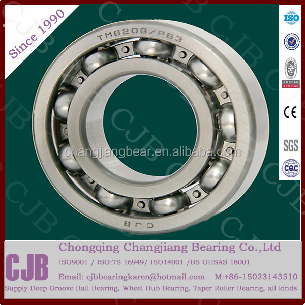 CJB 6208 40*80*18mm deep groove ball bearing with diameter 80mm