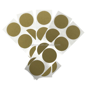 Custom 1inch Adhesive Transparent Vinyl Gold Scratch Off Label Anti-fake Security Code Variety Date Packaging Sticker Printing