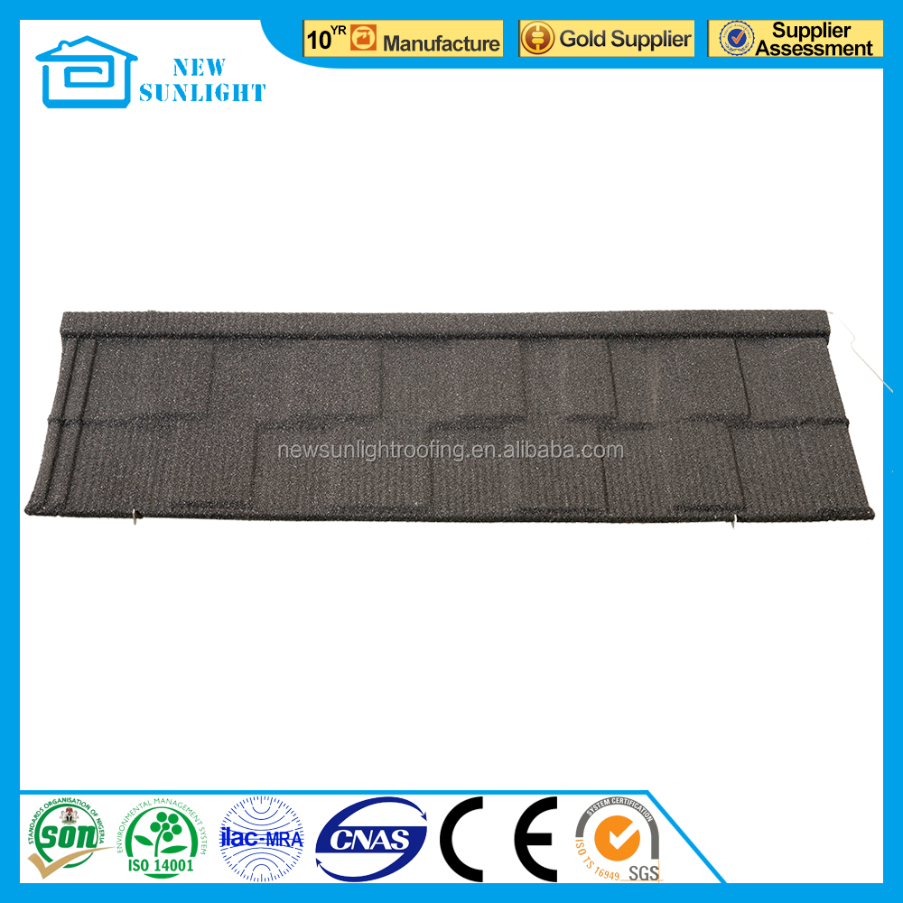 Nigeria style metal sheet CE certificate corrugated color stone coated steel roofing tile
