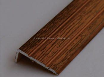 Metal Right Angle Tile Trim Aluminum Edge Profiles Flooring Transition Strips With Self Adhesive