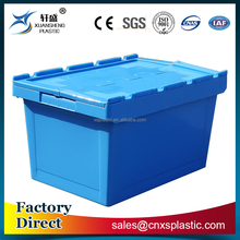 Hot sale stackable and nestable plastic crate box with lid