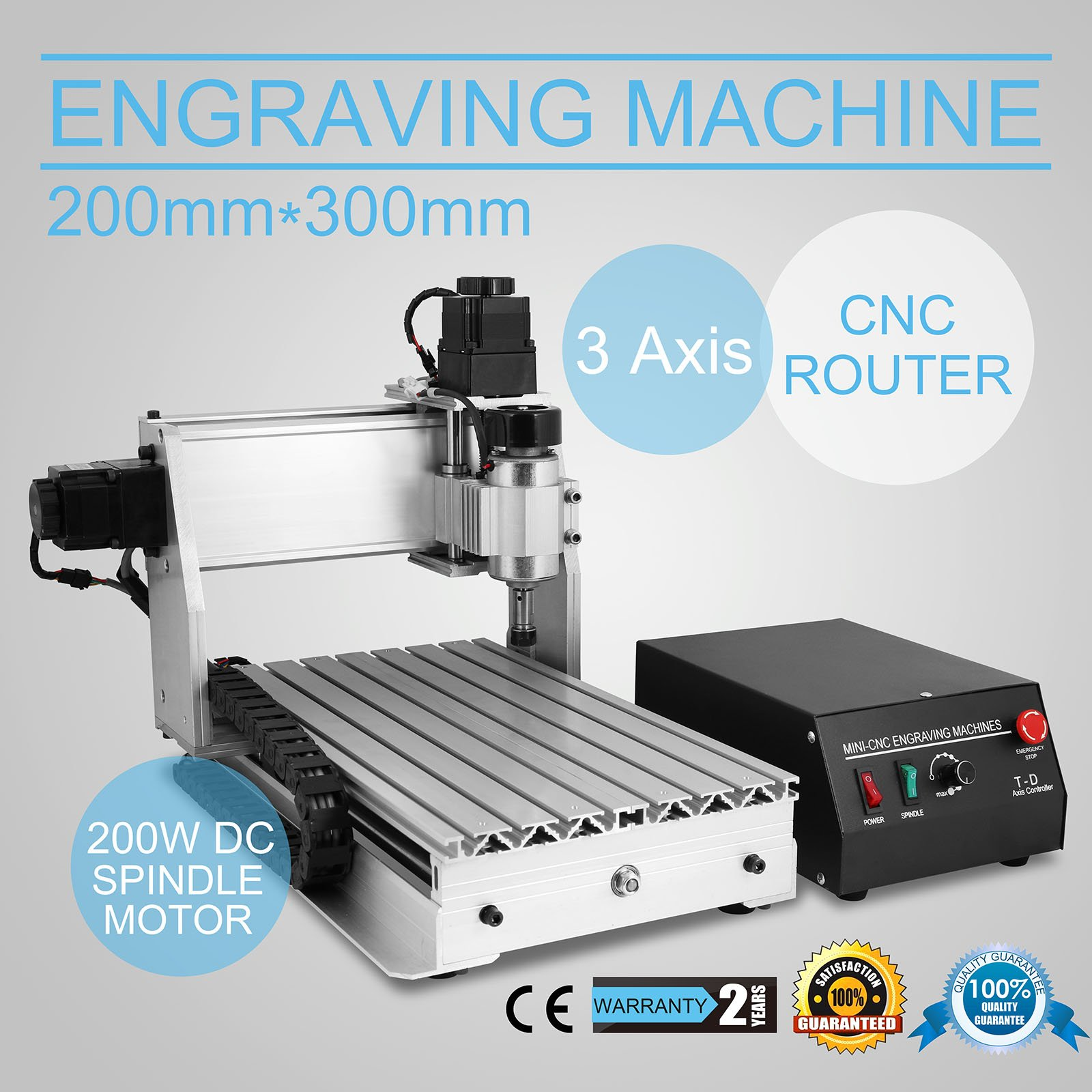 ZJchao(TM) 110V 220V CNC 3020T-DJ upgrade from 3020T Router Engraver 230W 11000RPM Machine