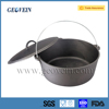 Hot sale pre-seasoned storing cast iron camping dutch oven