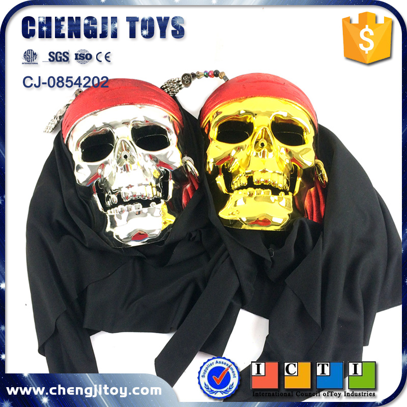 Party pretend toy pirate mask with headgear skeleton mask