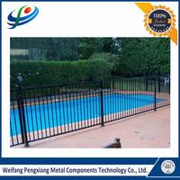 1200 High Security Black Aluminum Flat Top Pool Fence For USA CA AU NZ Market