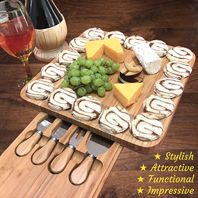 Kitchen Bamboo Cheese Board Set MPS-004 Details 5