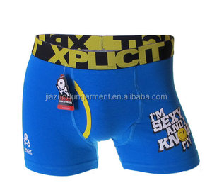 2017 New Lastest China Factory Manufacturer Customized Your Own Brand Design 3D Print Cartoon Cotton Male Sport Boxer Shorts