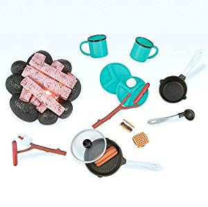 "Our Generation Around the Campfire – Fun Camping Accessories Set for 18"" Dolls"