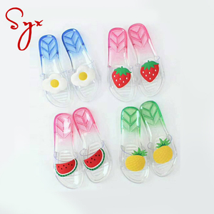 Cheap wholesale pvc jelly sandal slippers shoes women