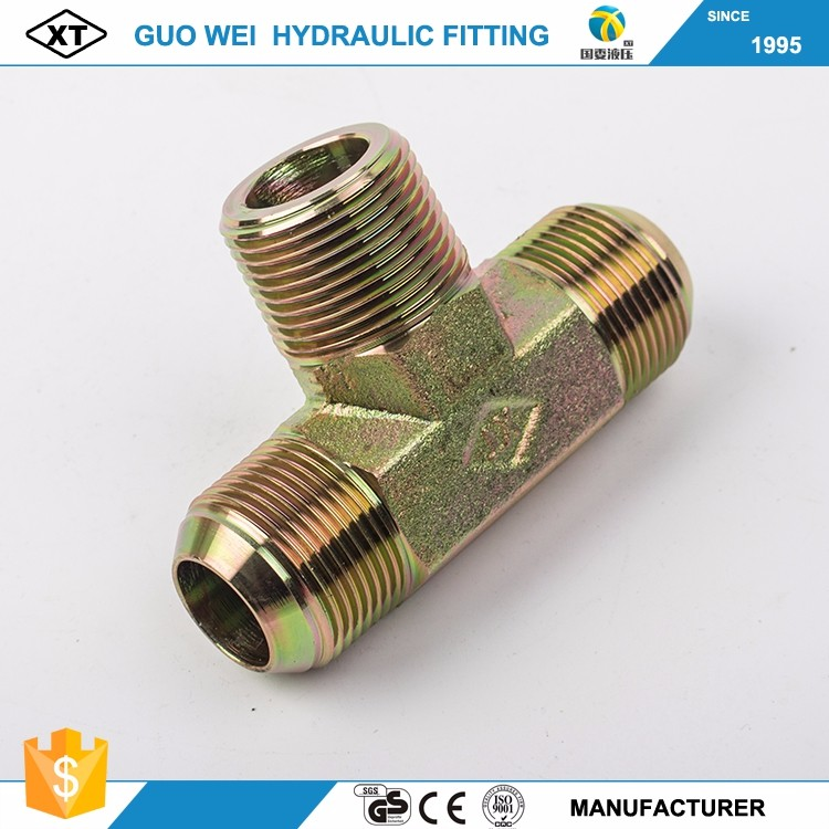 CNC Manufacturer Carbon Steel Hydraulic JIC to BSPT Male Adapters