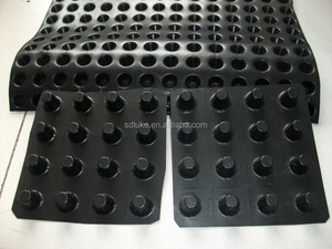composite plastic green roof dimple drainage board