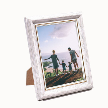 5x7inch Modern Plastic Picture Photo Frame / White Picture photo frame Family
