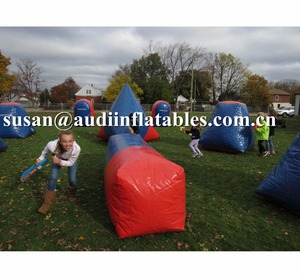 wholesale lase tag bunker Inflatable Bunkers Paintball, Cheap Inflatable Paintball filed,war zone inflatable