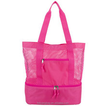 Mesh Tote Insulated Cooler Beach Bag in hangbags tote bag