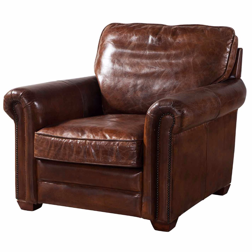 Europe Classic Vintage Leather Sofa 4 Seat Chesterfield Leather Sofa
