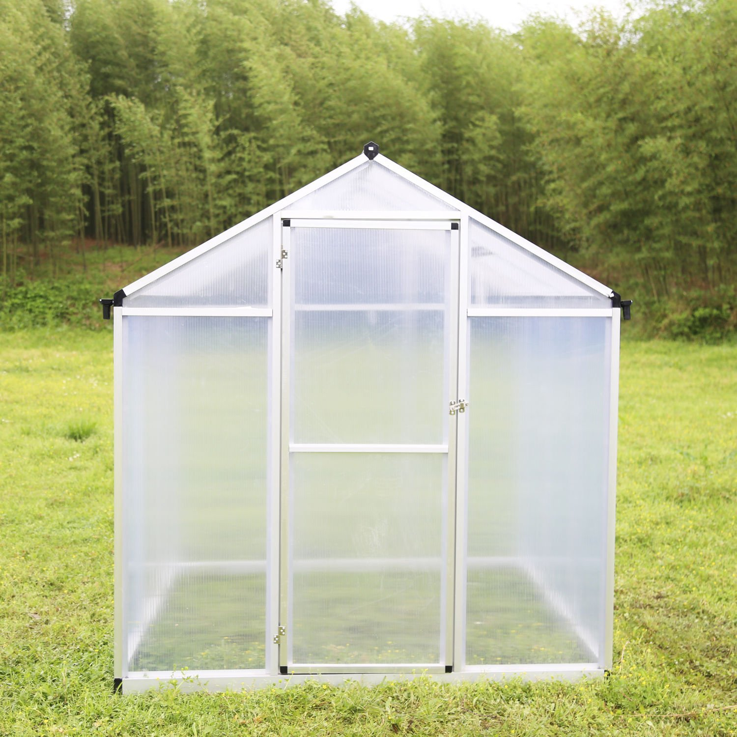 New MTN-G 6'x6' Walk In Greenhouse Heavy Duty Polycarbonate Outdoor Plant Green House Kits
