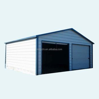 Double Car Metal Garages/Steel Frame Kit Building/Prefab Steel Buildings