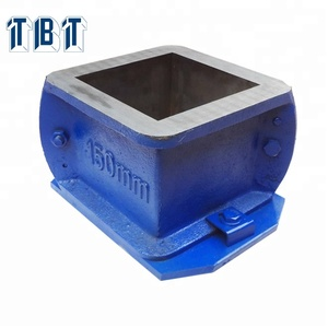T-BOTA Two Parts cube 150mm Single Cast iron Cube Moulds