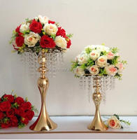 New arrival Golden and Silver Wedding crystal table centerpiece party road leads home decoration