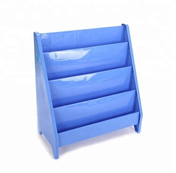 China Factory Supplier Whole School Nursery Furniture Kindergarten Plastic Modern Holder Shelf Book Rack