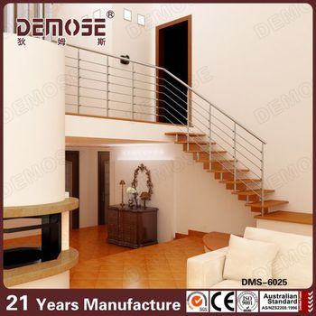 Moderno Escaleras Interiores Diseños De Interior Alambre De Madera ...