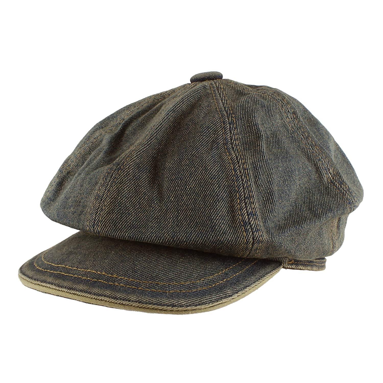 Morehats Jean Cotton Flat Cap Cabbie Hat Gatsby Ivy Irish Hunting Newsboy  Hunting Beret e972237730c0