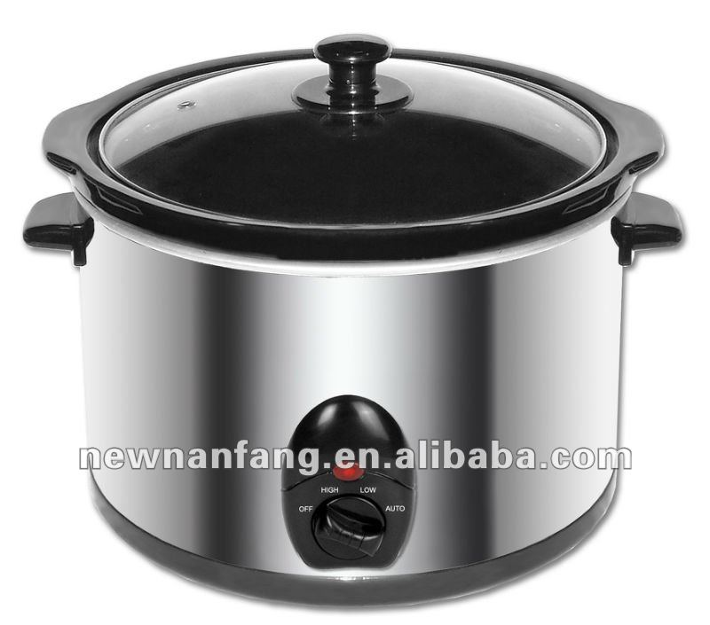 2013 new design stew Slow cooker 5.0 L/QT /320W/Zhanjiang of China/hotsale/sous vide/ceramic pot cooker