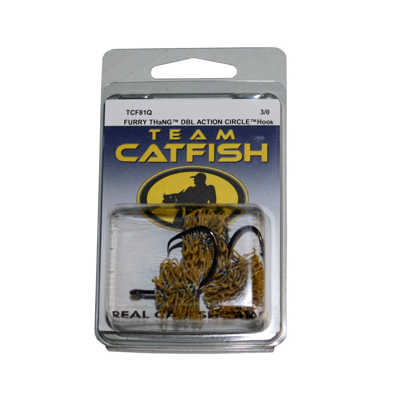 Team Catfish TCF97Q2 Mini Furry Thang 2 Hooks NEW Size-2 TCF97Q-2 Yellow