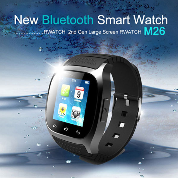 Luxury Wristwatch R Watch Smartwatch with Dial SMS Remind Pedometer for Android Phone M26