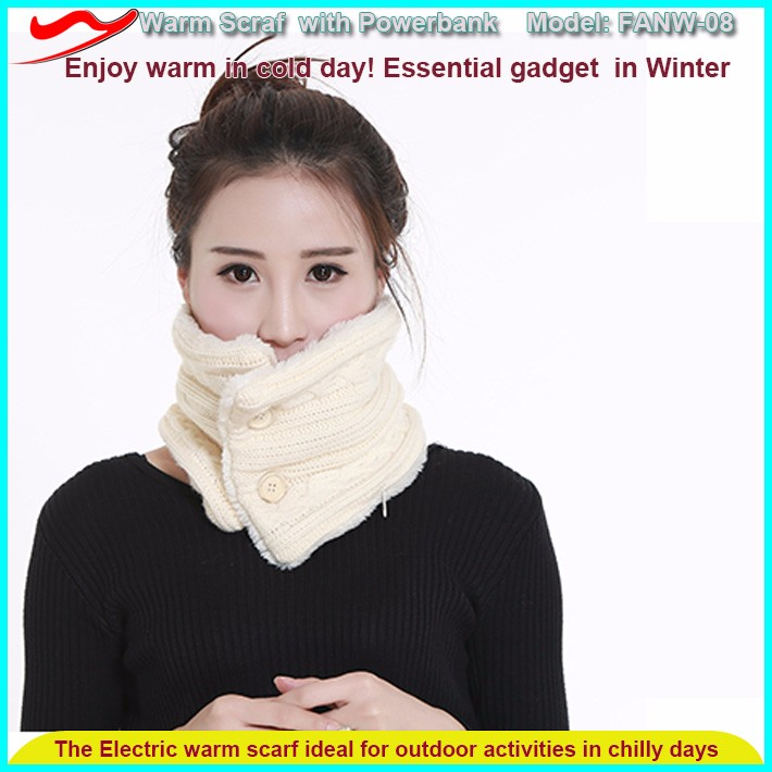 winter battery operated electric warm scarf customized neck warmer