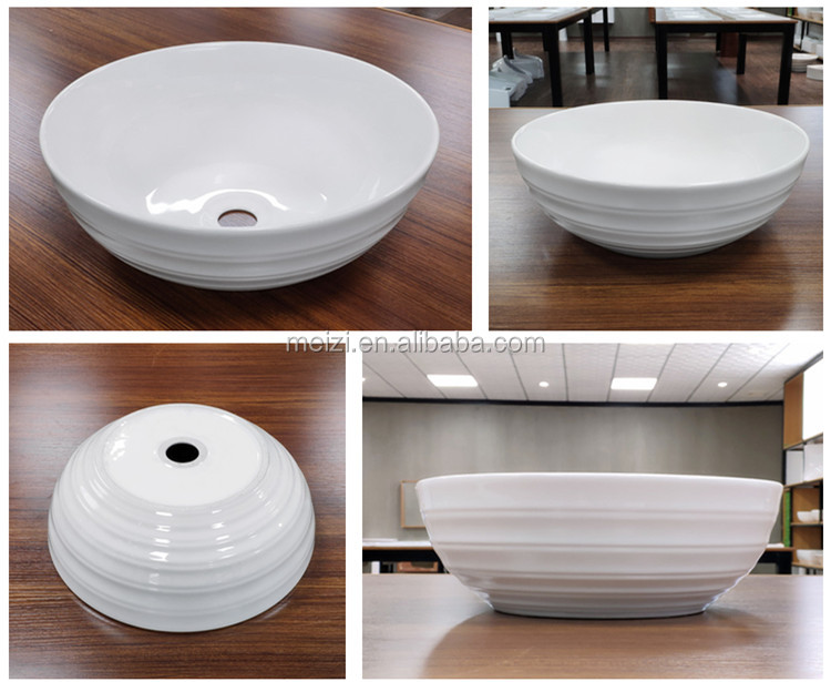 New design countertop ceramic wash art basin for bathroom